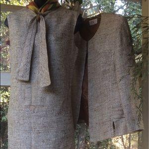 Vintage 1960-1970 MADMEN Career Tweed Chemise Jkt